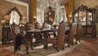 AC61100 - VERSAILLES  DARK BROWN 9 PIECE DINING SET