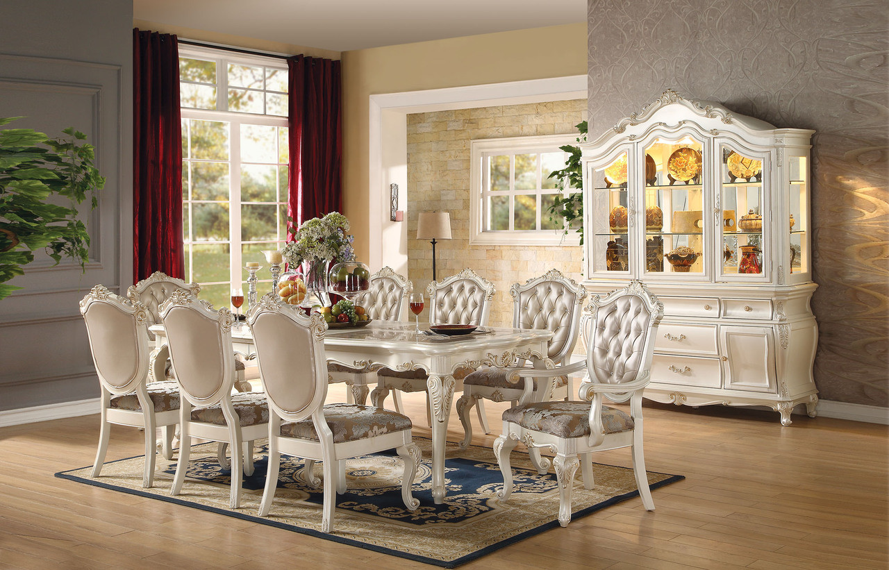 Merveilleux Add To Wish List. Click The Button Below To Add The AC63540   Chantelle  Pearl White 9 Piece Dining Set ...