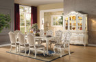 AC63540 - Chantelle Pearl White 9 Piece Dining Set