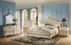 AC23540Q - Chantelle Pearl White With Rose Gold Formal Bedroom Group
