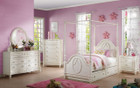 ac30360  - Dorothy Ivory Canopy Bed With Trundle