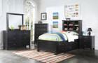 AC30390T - Mallowsea Black w/ Storage Kids Bed Set