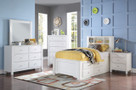 AC30420T - Mallowsea White w/ Storage Kids Bed Set