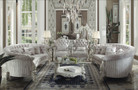 AC52085 - Versailles Ivory Velvet/ Bone White Sofa And Chair