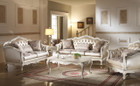 AC53540 - Chantelle Pearl White Sofa and Love Seat Set