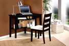 AC00518 - Cody Black 2 pc. Corner Desk and Chair