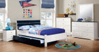 FA7626BL - Kimmel Blue and White Kids Bed w/ Trundle