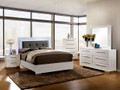 FA7201 - Clementine White Solid Wood Adult Bed