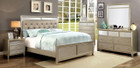 FA7101 - Gala Sliver Mirrored Platform Adult Bed