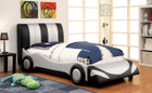 FA7945 - Super Racer Silver/Black Childrens Bed