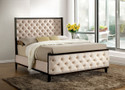FA7210 - Kamille Sophisticated Button Tufted Ivory Adult Bed