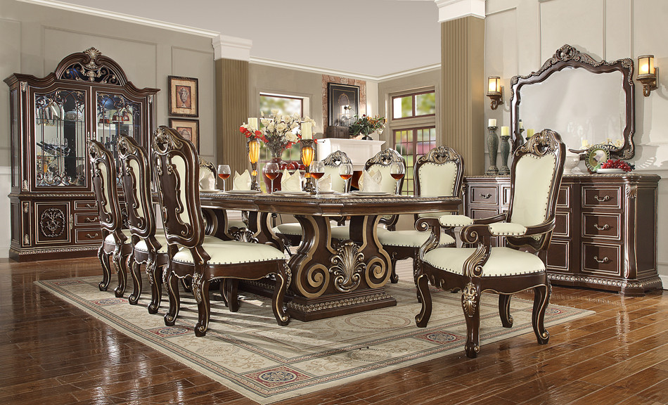 Hd8013 Georgio 9 Piece Formal Dining Room Set