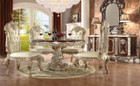 Hd8017rd  Viviana Round 5 Piece Formal Dining Room Set With Intricate Carvings
