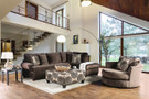FA5143BR Bonaventura Brown Sectional With Pillows