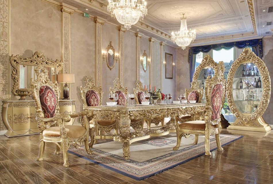 HD8086d Ishaan Formal 9 Piece Formal Dining Room Set