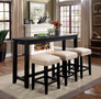 FA3474PT-4PK - Dita 4 Piece Counter Height Dining Set W/ USB and Power Outlet