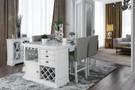 FA3390PT - Asher 5 Piece Counter Height Dining Set W/ Wine Rack And Storage