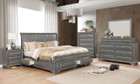 FA7302GY - SORIYA GRAY TRANSITIONAL STYLE STORAGE BED