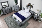 FA7628GY - AAMIR GRAY MODERN WOOD GRAIN LOW PROFILE BED