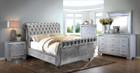 FA7128GY - Nadeana Contemporary Style Sleigh Bed Also Available in Black