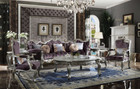 AC53465 - Marsala Velvet And Antique Platinum Formal Over Sized Sofa and Chair
