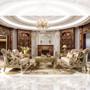 HD2663 - Marina Formal Champagne Sofa And Love Seat
