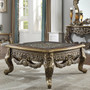 HD905br Asha Formal Perfect Brown with Metallic Antique Gold Coffee Table