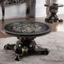 P1 328b - Isla Ebony Black with Antique Gold Formal Coffee Table