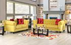 Yanis Elegant Royal Yellow Sofa And Love Seat