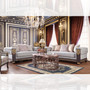 Nevis Elegant Formal Sofa, Love Seat And Chair