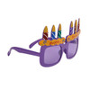 """Party Glasses """"Happy Birthday!"""" Purple"""