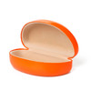 Sunglasses Cases w/Matching Microfiber Cleaning Cloth 7059 | Orange Case & Cloth