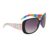 Women's Fashion Sunglasses DE81 Rainbow Patterned w/Lavender Interior Frame