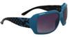 Fashion Sunglasses Wholesale 22815 Teal Blue & Black Color Frame