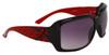 Fashion Sunglasses Wholesale 22815 Red & Black Color Frame