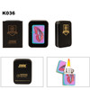 Tri-Color Prism Lighter with Butterfly K036