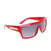 Single Piece Lens Unisex Sunglasses 6003 Red Frame
