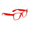 Clear Sunglasses 6015 Red Frame with Black Bow