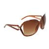 Large Frame Vintage Sunglasses 6018 Brown Frame