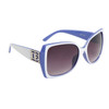 Vintage Sunglasses DE5008 White & Blue Frame