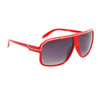 Unisex Sunglasses 6006 Red Frame w/White Trim