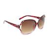 Animal Print Rhinestone Sunglasses DI6001 Red Frame