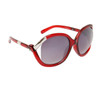 Vintage Sunglasses 6036 Transparent Red Frame