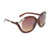 Vintage Sunglasses 6036 Transparent Brown Frame