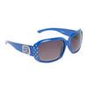 Rhinestone Sunglasses DE5009 Blue Frame