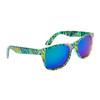 Wholesale California Classics Sunglasses by the Dozen - Style # 830 Green with Blue Flash Mirror