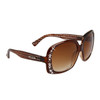 Diamond™ Eyewear Rhinestone Sunglasses by the Dozen - Style # DI137 Brown