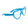 Clear Lens Heart Sunglasses - Style # 8068 Blue