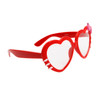 Clear Lens Heart Sunglasses - Style # 8068 Red
