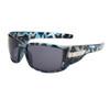 Xsportz™ Wholesale Sport Sunglasses - Style # XS7003  Black/Blue Camo